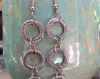 Charming silver dangle earrings