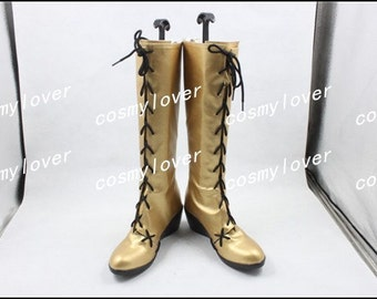 Vocaloid Megurine Luka Cosplay Boots Cosplay Shoes Custom Made