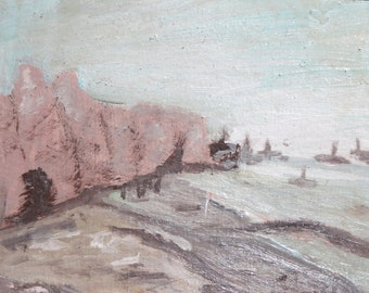European art antique oil painting impressionist landscape