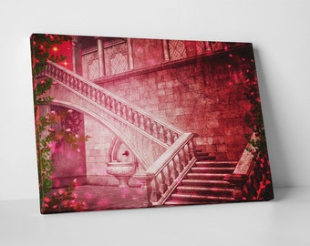 Princess Fairy Castle. Gallery Wrapped Canvas Print