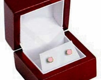 6 Rosewood Earring Jewelry Display Gift Boxes