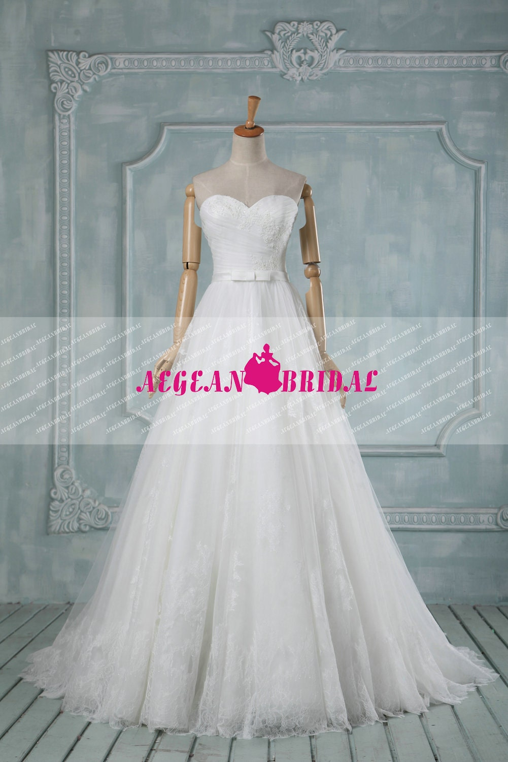 RW278 Lace Wedding Dress with Beading Top Ball Gown with Sequins Puffy Bridal Dress Sweetheart Bridal Gown Long Chiffon Wedding Gown