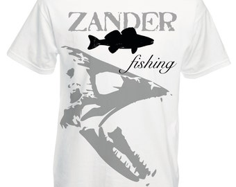 Fishing tshirt, fishing t shirt, fish shirt, fisherman shirts, gifts for fishermen, fathers day fishing tees, Fish geek, Zander Perch Sandre