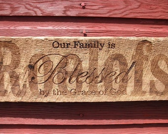 "Personalized family sign. We will add your family name where ""Roelofs"" name is."