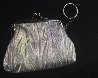 Silver Coin Purse with Keyring