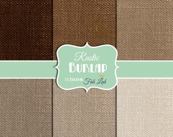 Burlap, Beautiful, Browns and Tans, Digital Paper, 12x12, Scrapbooking, Instant Download