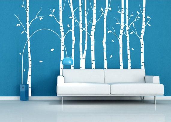 baum wandtattoo aufkleber 9 birke b ume wald wand von. Black Bedroom Furniture Sets. Home Design Ideas