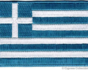 GREECE FLAG PATCH iron-on embroidered applique Top Quality