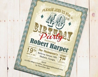 Western Adult Birthday Party Invitation / Digital Printable Invitation / Customized