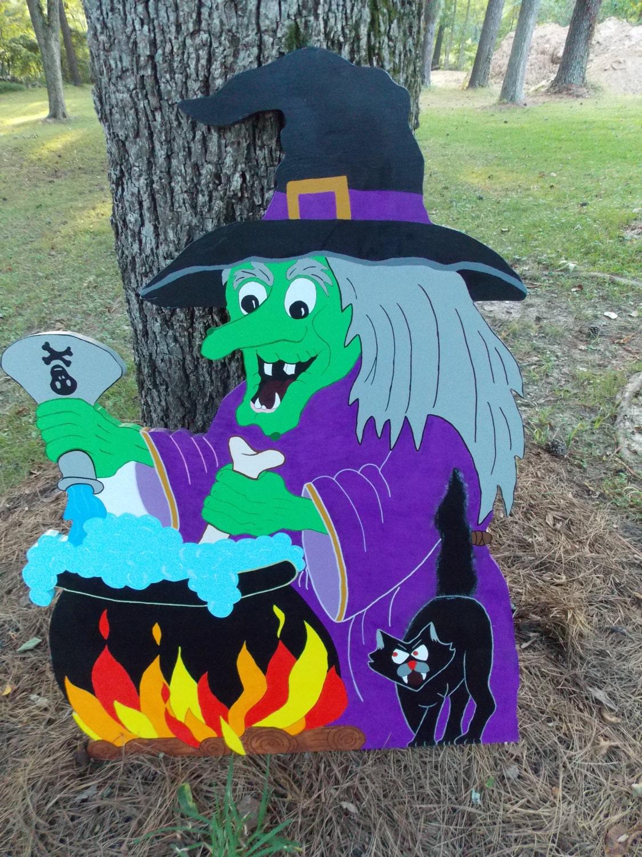 Wooden Halloween Yard Art by lulubellesyardart on Etsy