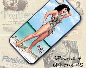 Betty Page cell phone Case / Cover for iPhone 4, 5, Samsung S3, HTC One X, Blackberry 9900, iPod touch 4 / 134