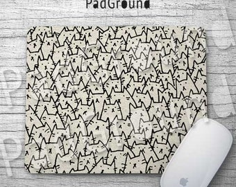 Because Cats Mouse Pad, Cute Cats Pattern, Computer Accessories, Office Decor, Gifts, Natural Soft Fabric rubber backing Mouse Pad - BC02