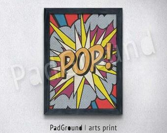 Pop Art Print, Popular Art Poster, Pop Art Poster, Canvas Print, Personalized Art Print, Natural Linen Print Art with Frame - POA03