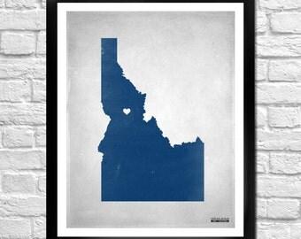 Idaho State Map Personalized Art Print