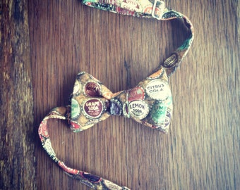Vintage Inspired Soda Top Bow Tie