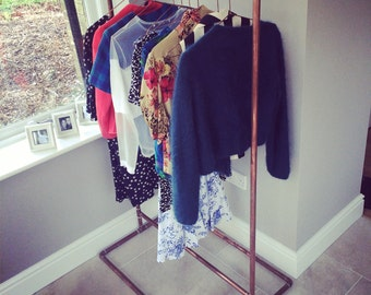 Copper Clothes Rail, Made to Measure
