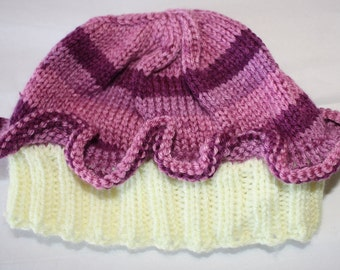 Baby/Child Cupcake Hat with Frosting and Cherry