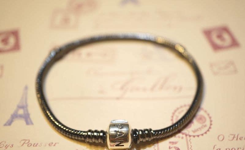 Pandora bracelet ALE stamp BLACK classic silver clasp