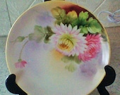 Handpainted Nippon Plate - Colorful and Beautiful with Flowers