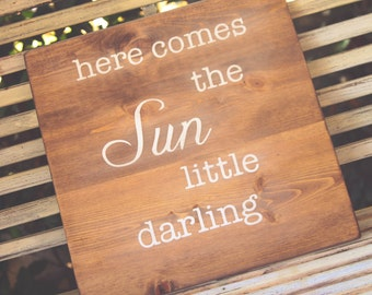 Beatles wall art - here comes the sun little darling