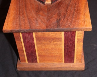 Mahogany/Purple Heart/Maple/Black Walnut Box