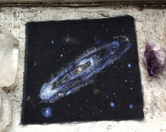 Andromeda (M31) Galaxy Black Muslin Patch