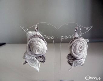 Linen earrings