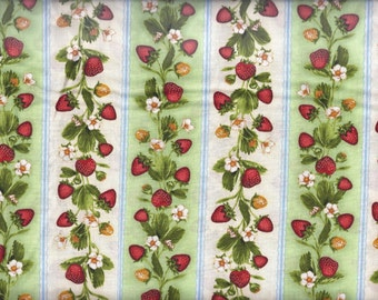 Strawberry Stripe Curtain Valance