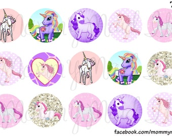 Fantasy pink purple adorable horse animal print glitter instant