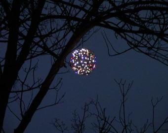 Outdoor Christmas decorations -- Christmas balls