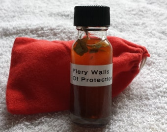 Fiery walls of protection Mojo Bag and Oil