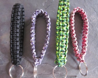 Paracord Key Wristlet Fob Lanyard - Custom made with your Color and Size! Knotability Original Design