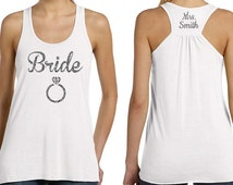Personalized Bridesmaids Tanks. Choose tank Color, Text Color, over 40 Designs to choose from! FREE Personalization - limited time only!
