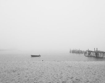 Digital Photograph, Fog Over Cape Cod Bay, Photography, Provincetown, MA