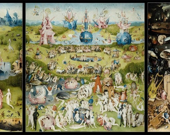 The Garden Of Earthly Delights Silk Printing Wall Poster 41u0027u0027