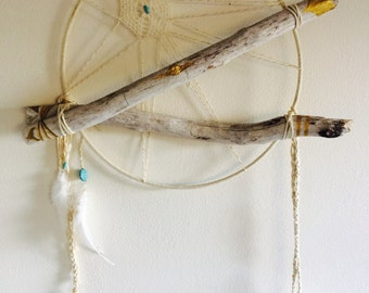 Large White Dream Catcher