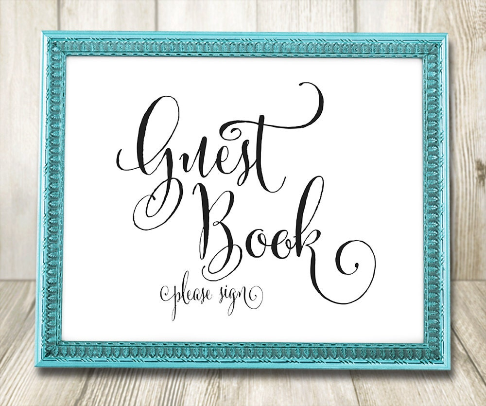 Unusual image for printable guest book