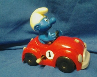 Smurf Wind Up Car