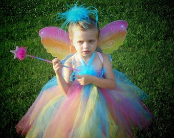 Fairy Costume-Girls Fairy Costume-Toddler Fairy Costume-Baby Fairy Costume-Pixie Costume-4 Piece Costume! Best Fairy Halloween Costume!