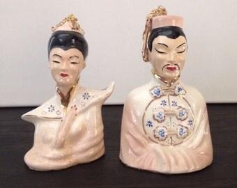 Ceramic Busts China Couple Set
