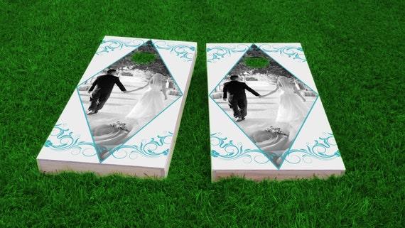 Cornhole Board Set With Bags Reception Games Wedding Games Corn