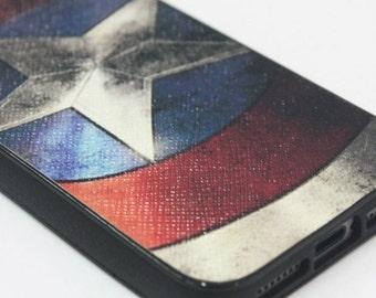 Captain America samsung galaxy s5,  iPhone 5/5s, 5c, 6 or 6Plus case featuring Captain America's shield