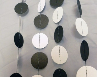 Black and White Birthday Party Paper Garland