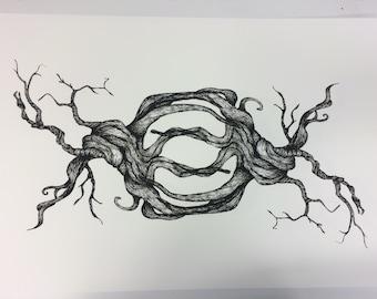 Intertwined TREE Screenprint