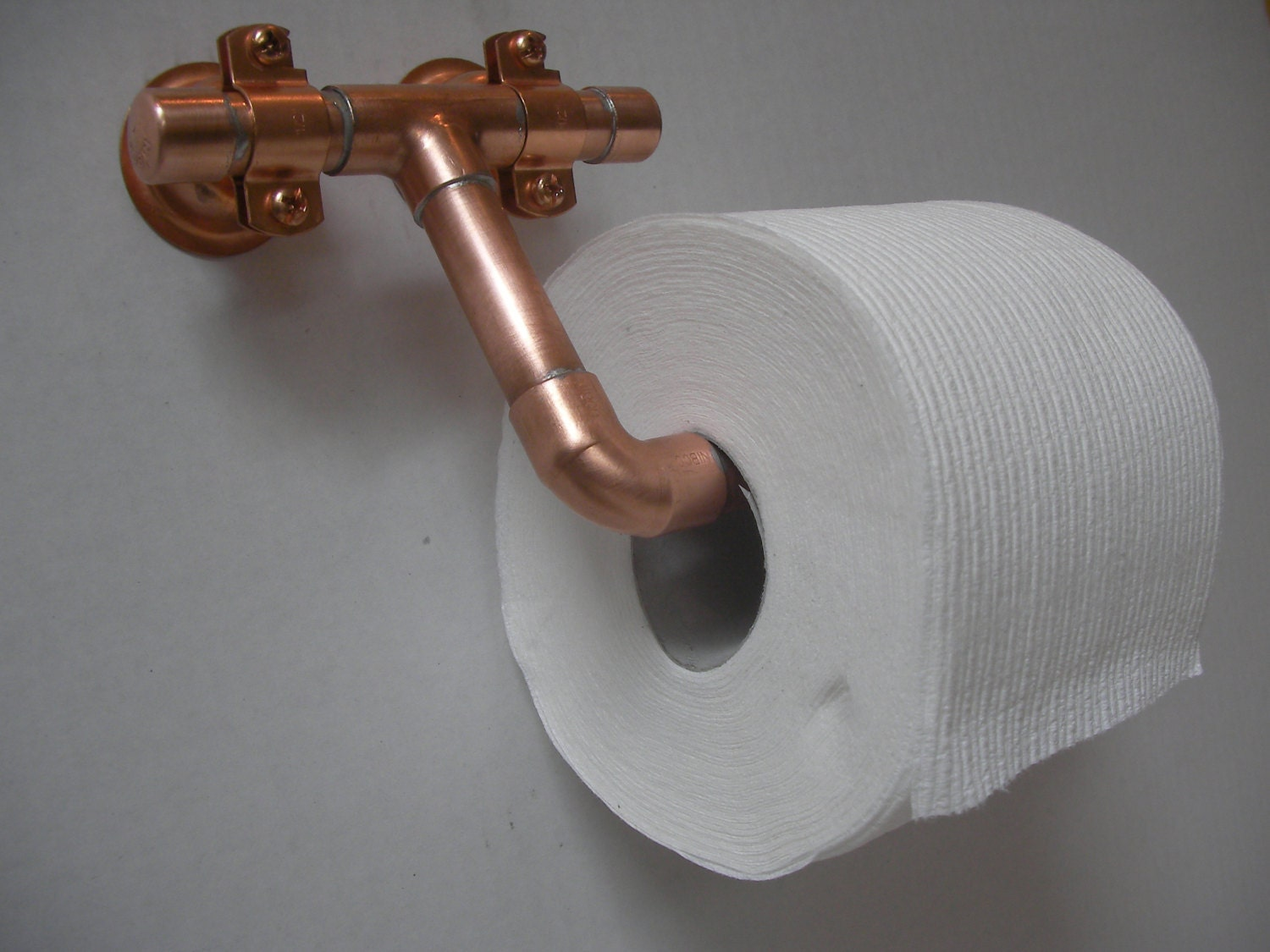 Copper Toilet Paper Holder Industrial Modern By Pipedbyanthony