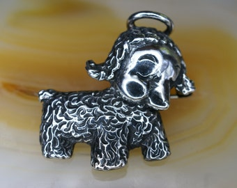 Sterling Lamb with Halo Pin