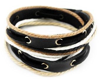 axy wrap bracelet TWIC11-5!  Leather Bracelet