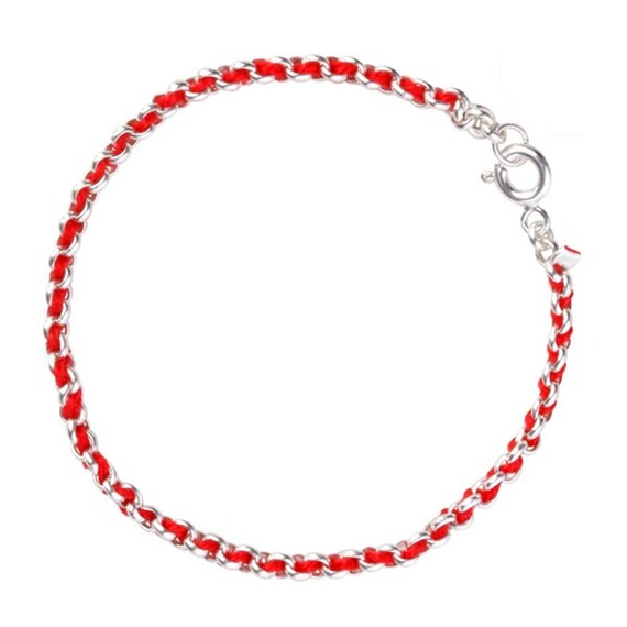 Red kabbalah bracelet sterling silver for good luck and protection, waterproof, BEST ONLINE PRICE!  5 sizes to choose from