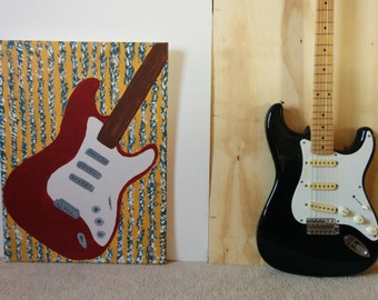 Painting of Electric Guitar 18 x 24
