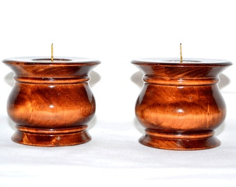 Candlestick Candle Holder (two) with a metal insert a support under candles a decor element the Christmas souvenir #P2
